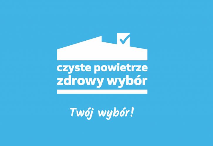 """Na zdjęciu logotyp programu """"Czyste Powietrze"""""""