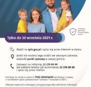 plakat dotyczący spisu ludności