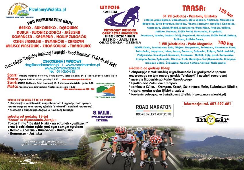 plakat promujący wyścig kolarski
